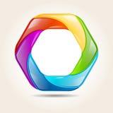 Jaskrawy kolorowy kształt Obraz Stock