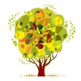 Jaskrawy koloru drzewo Fotografia Royalty Free