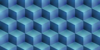 Jaskrawy kubiczny bezszwowy tło ilustracja wektor