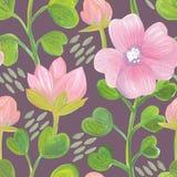 Jaskrawy kwiecisty bezszwowy projekt z różowymi kwiatami Fotografia Royalty Free