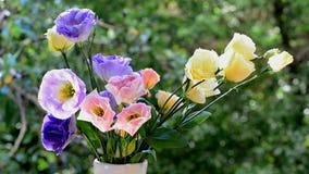 Jaskrawy lato bukiet piękni kwiaty zbiory wideo
