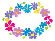 Jaskrawy lato kwiatu pierścionek Zdjęcia Stock