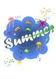Jaskrawy lato plakat Zdjęcie Stock