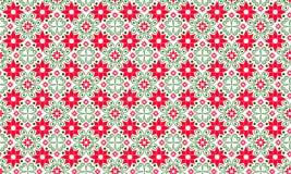 Jaskrawy lato, wiosna wzór, tło Czerwoni i zieleni kolory bezszwowy wzoru Zdjęcie Stock