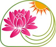 Jaskrawy leluja logo ilustracja wektor