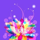 Jaskrawy lotos ilustracji