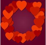 Jaskrawy menchia papieru serc wektoru tło Obrazy Royalty Free