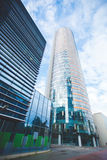 Jaskrawy miasto biznesu drapacz chmur Zdjęcie Royalty Free