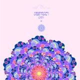 Jaskrawy mozaiki tło w round kształcie Kolorowy abstrakcjonistyczny ornament Zdjęcie Royalty Free
