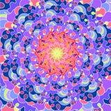 Jaskrawy mozaiki tło w round kształcie Kolorowy abstrakcjonistyczny ornament Zdjęcia Stock