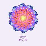 Jaskrawy mozaiki tło w round kształcie Kolorowy abstrakcjonistyczny ornament Fotografia Royalty Free
