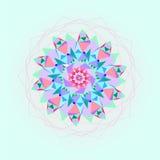 Jaskrawy mozaiki tło w round kształcie Kolorowy abstrakcjonistyczny ornament Obrazy Stock