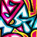 Jaskrawy muzyczny bezszwowy wzór z grunge skutkiem Zdjęcia Royalty Free