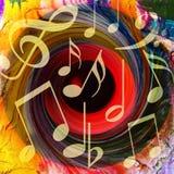 Jaskrawy Muzyczny tło Obrazy Royalty Free