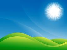 Jaskrawy naturalny lato krajobraz Obrazy Stock