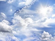 Jaskrawy niebo Fotografia Royalty Free