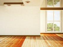 Jaskrawy pokój z okno ilustracja wektor