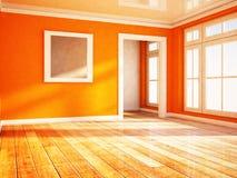 Jaskrawy pokój z okno ilustracji