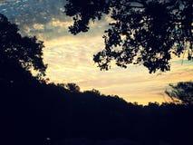 Jaskrawy popołudniowy niebo Obrazy Royalty Free