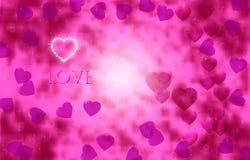 Jaskrawy różowi serca na pięknym iskrzastym tle to walentynki dni obrazy royalty free