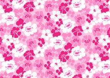 Jaskrawy różowy kwiatu wzór. Obrazy Stock