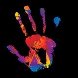jaskrawy ręka Fotografia Royalty Free