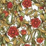Jaskrawy rocznika wzór Obraz Royalty Free