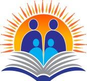 jaskrawy rodzinny edukacja logo Zdjęcie Stock