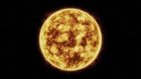 Jaskrawy rozbłysk słoneczny słońce w przestrzeni royalty ilustracja