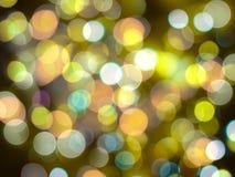 Jaskrawy rozjarzony żółty świętowanie zamazujący wokoło świateł błyszczy tło royalty ilustracja