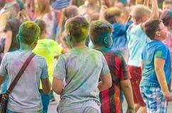 Jaskrawy rozochocony festiwal colours Obrazy Stock