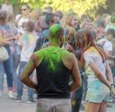 Jaskrawy rozochocony festiwal colours Obraz Stock