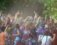 Jaskrawy rozochocony festiwal colours Fotografia Royalty Free