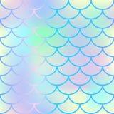 Jaskrawy rybiej skala bezszwowy wzór Gradientowy siatki tło z fishscale ornamentem ilustracja wektor
