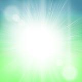 Jaskrawy słońca światła niebo fotografia royalty free