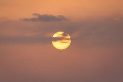 Jaskrawy słońca położenie Zdjęcia Royalty Free