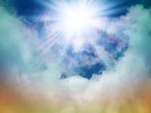 Jaskrawy słońce w niebie Obraz Royalty Free