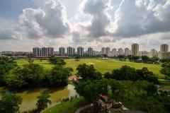 Jaskrawy słoneczny dzień chińczyka ogród, Singapur Zdjęcia Stock