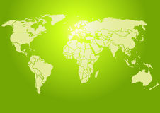 jaskrawy - s zielony świat Obraz Royalty Free