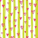 Jaskrawy serce wzór Fotografia Royalty Free