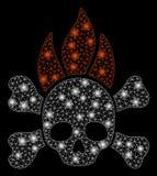 Jaskrawy siatki sieci Śmiertelny ogień z raców punktami ilustracji