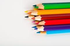Jaskrawy skład kolorów ołówki Zdjęcia Stock