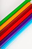 Jaskrawy skład kolorów ołówki Obrazy Royalty Free