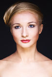 jaskrawy splendoru makeup kobieta Zdjęcie Royalty Free