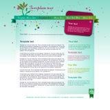 Jaskrawy strona internetowa układ Obrazy Royalty Free