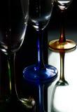 jaskrawy szkło trzy Zdjęcia Royalty Free