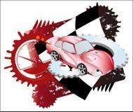 jaskrawy tło samochód Zdjęcie Stock