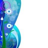 Jaskrawy tło z pięknymi kwiatami Obraz Stock