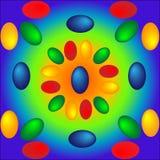 Jaskrawy tło z barwionymi Wielkanocnymi jajkami Obrazy Royalty Free