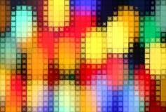 Jaskrawy tło z kolorowym mozaika wzorem Fotografia Royalty Free